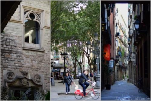 Ruelles et façade du musée Picasso, Barcelone