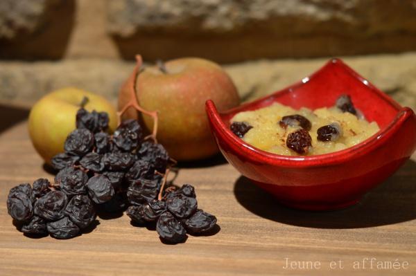 Compote pomme et raisins secs