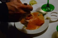 Bofinger, salade de chou et poisson cru