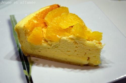 Part de tarte au fromage blanc et à l'orange