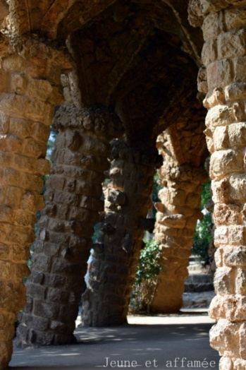 Parc Güell, colonnes
