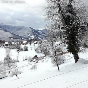 La vallée de Massat sous la neige
