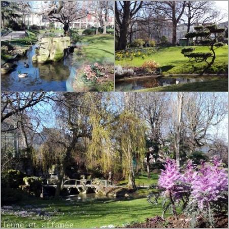 Le square des Batignolles au printemps