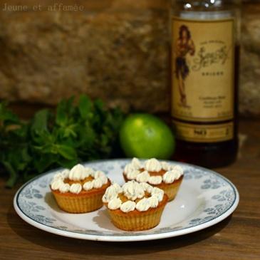 Cupcakes mojito citron-menthe