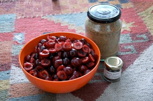 Compotée de cerises, les ingrédients
