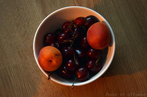cerises et abricots