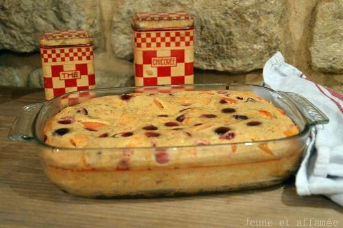 Clafoutis cerise/abricot/amande