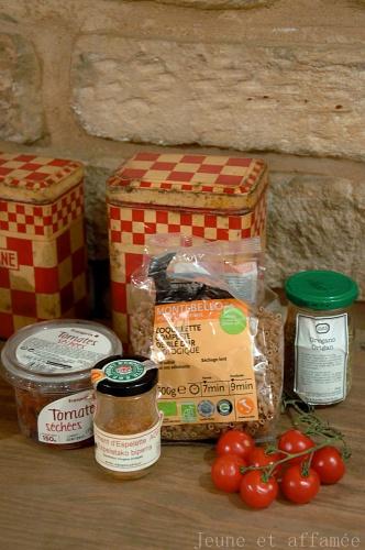 Ingrédients de la salade de pâtes
