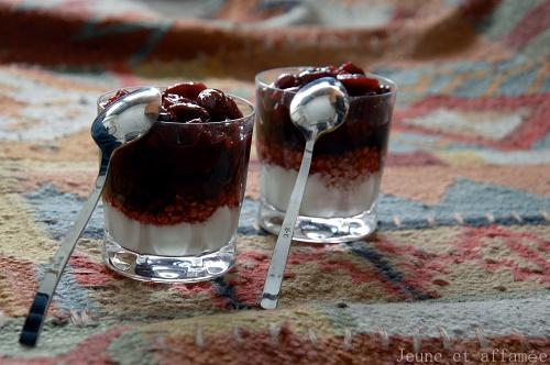 Les verrines à la cerise et au yaourt