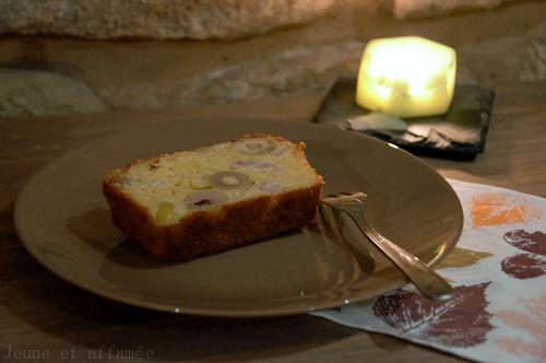 Cake olive jambon