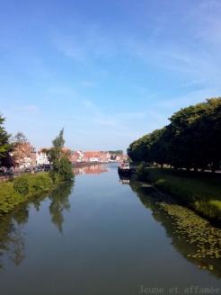 Jolie vue sur le canal de Saint-Omer