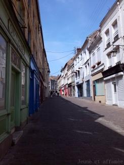 Les rues pavées de Saint-Omer