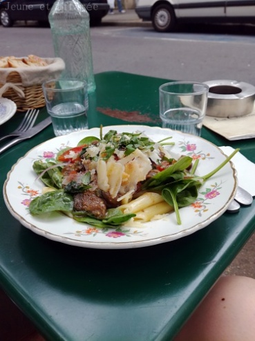 Penne aux légumes, café de la Concorde