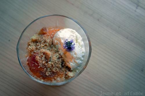 Abricots rôtis mousse au miel