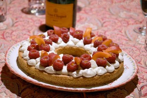 Tarte framboise-abricot
