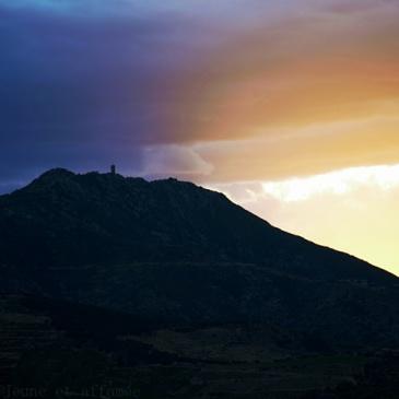 Coucher de soleil sur la tour Madeloc
