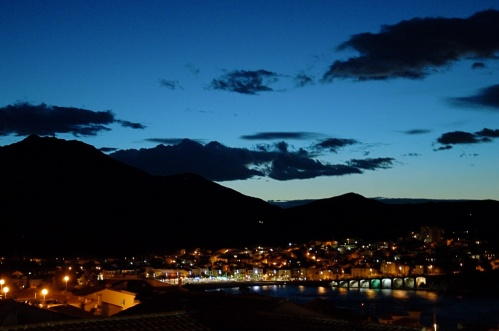 La baie de Banyuls de nuit