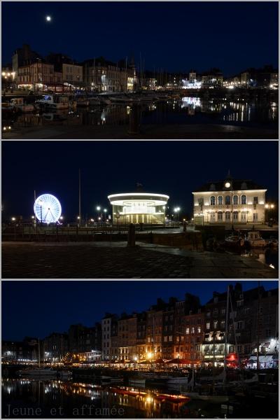 Le port de Honfleur la nuit