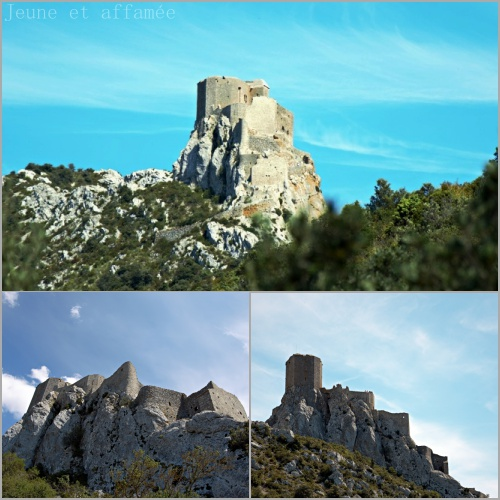Vue sur le château de Quéribus
