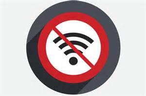 Symbole pas de wifi