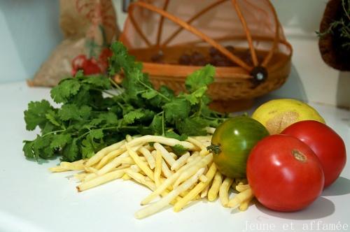 Tomates et haricots