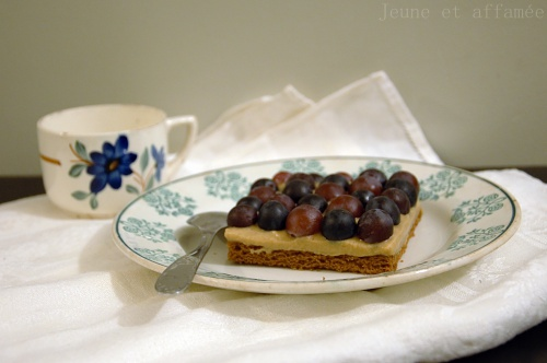 Tarte raisin mousse earl grey individuelle