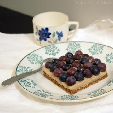 Tartelette au raisin et mousse au thé