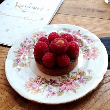 Tartelette framboise-rhubarbe