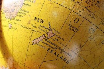Carte Nouvelle-Zélande