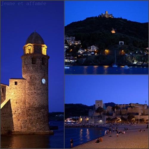 Vue de Collioure la nuit