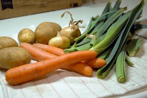 Bouillon de légumes, ingrédients