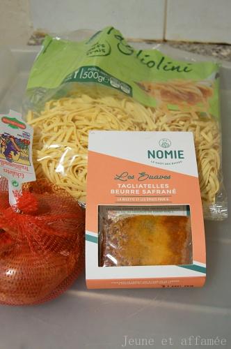 Tagliatelles beurre safrané Nomie