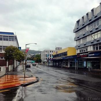 Whangarei sous la pluie