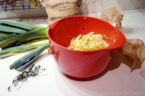 Galettes poireaux/pommes de terre