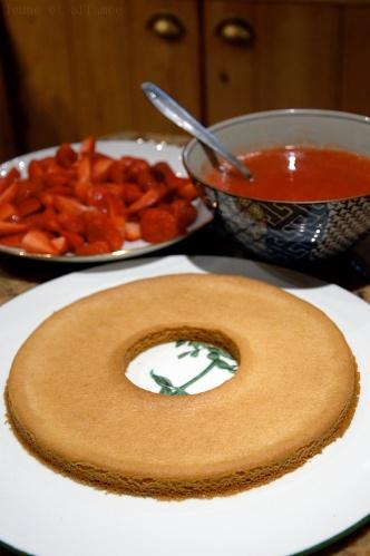 La pâte en train de refroidir