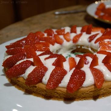 Tarte aux fraises et romarin