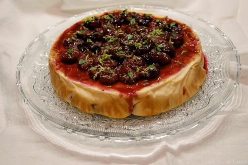 Gâteau fromage blanc/cerise