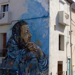 C215 Le penseur de Sète - street-art