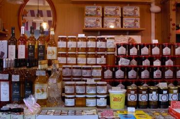 Miels et confitures, halles de Sète