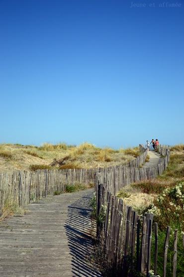 Plage de Sète, chemin d'accès depuis la piste cyclable