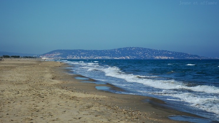 Plage avec vue sur Sète