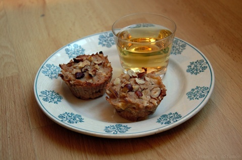 Mes petits gâteaux vegan pomme/coing/noisette