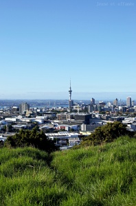 La sky tower vue depuis Mount Eden