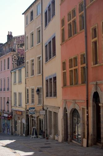 Façades colorées à Lyon