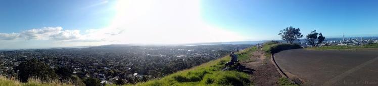 Vue panoramique sur Auckland depuis le Mont Eden