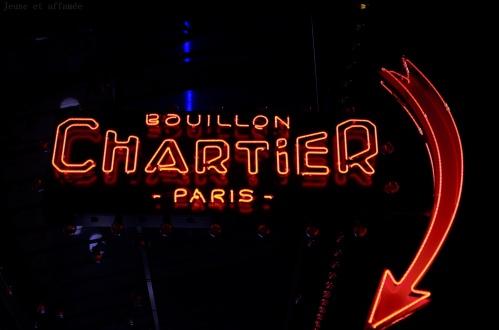 Enseigne de chez Chartier Montparnasse