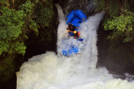 Okere Falls en rafting, Nouvelle-Zélande