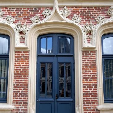 Jolie façade en biques, Douai