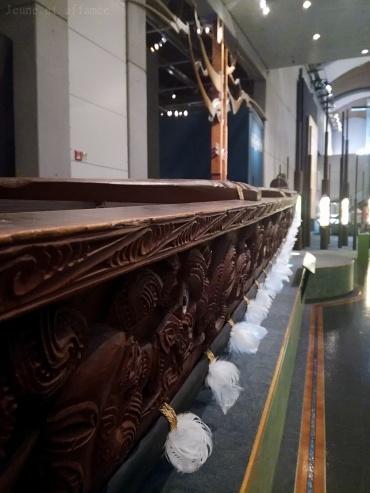 Détails d'un waka, embarcation maorie