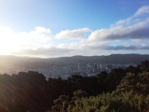Vue sur Wellington en fin de journée depuis le Mont Victoria